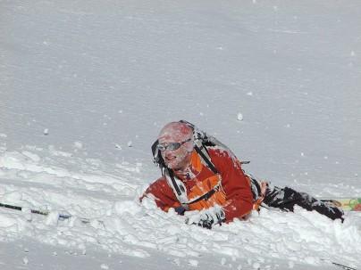 skiing wipeout